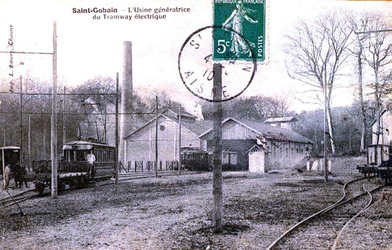 Usine électrique du tramway de Tergnier à Anisy-Pinon