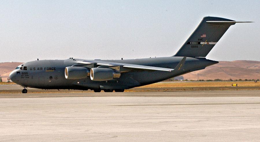 C-17 Globemaster III assigned to the 60th AMW
