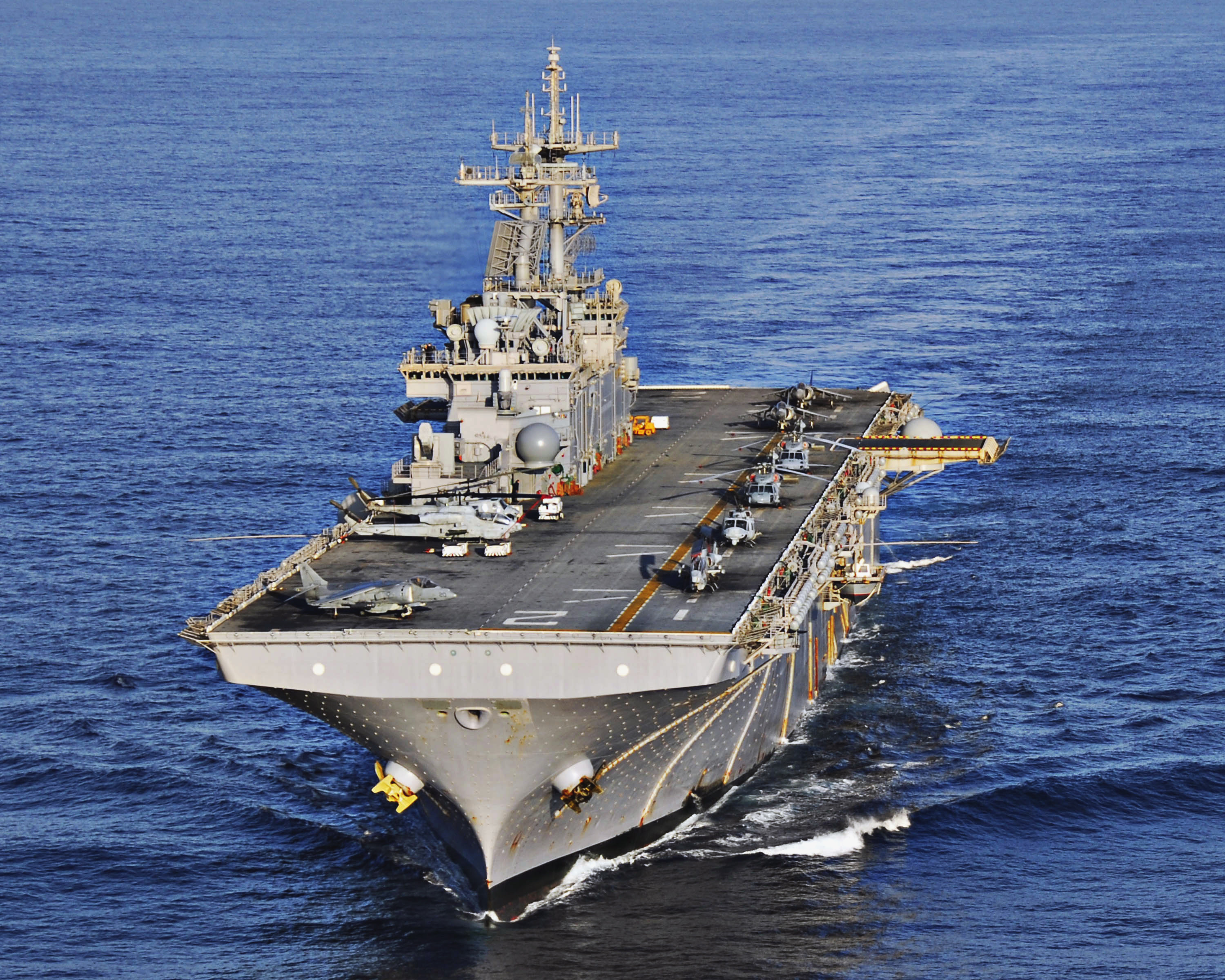 USS Essex at sea