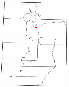 Location of Midway, Utah