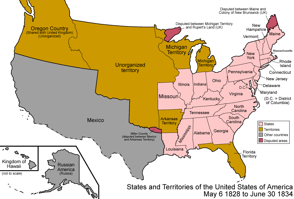 Map Of Us 1828 File:United States 1828 1834.png   Wikimedia Commons