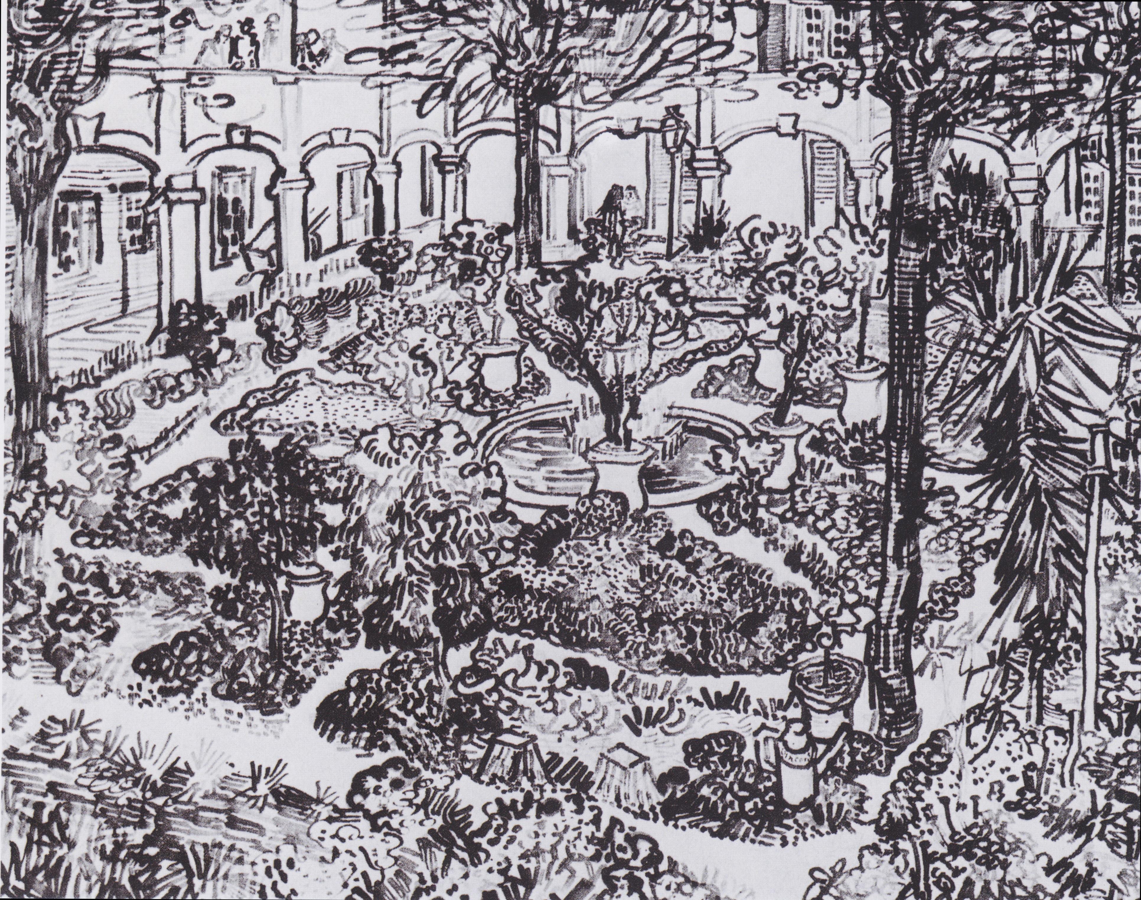File:Van Gogh   Garten Des Hospitals In Arles.jpeg
