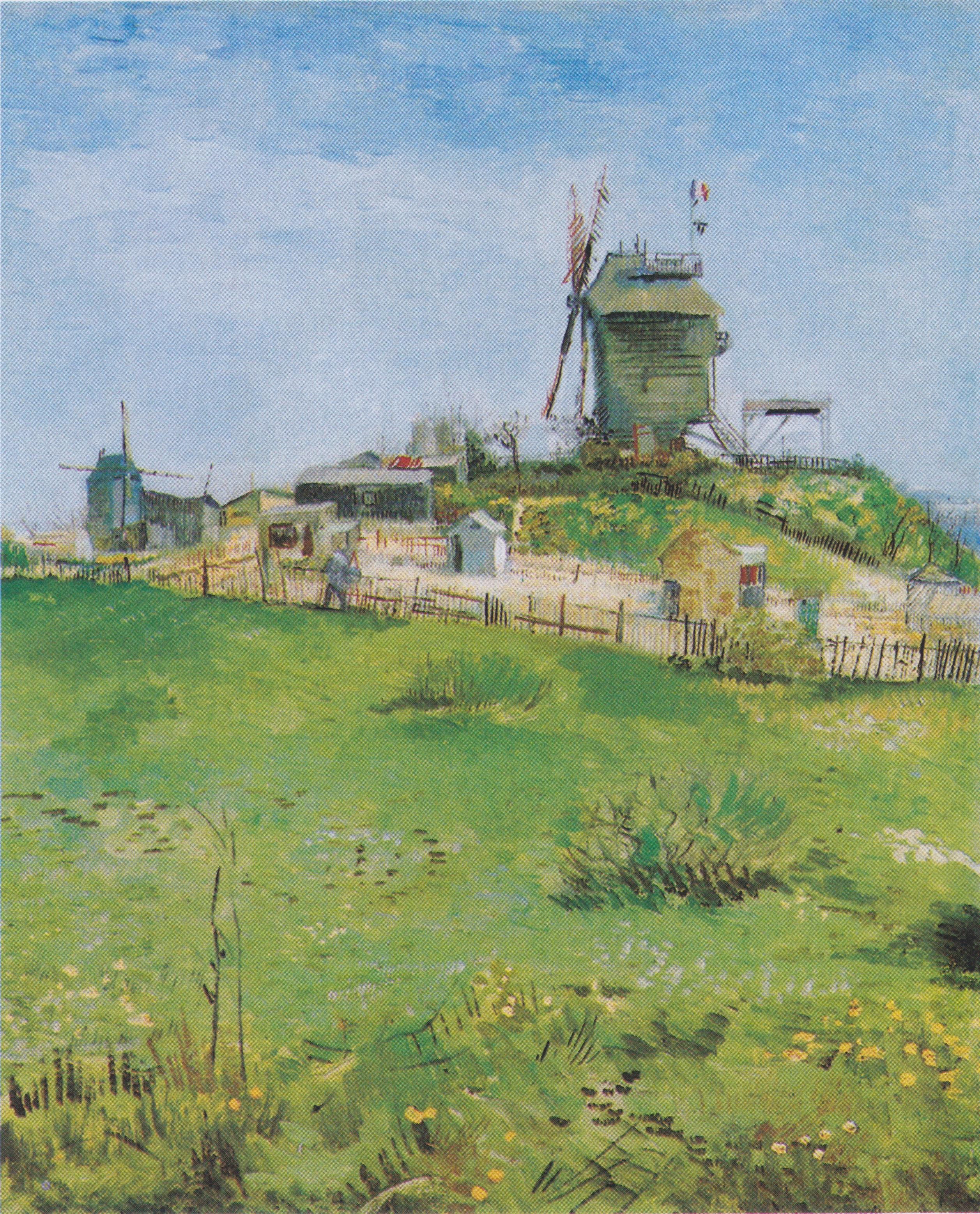 Le moulin de la galette (série de van gogh)   wikiwand