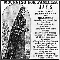 mourning clothes ad