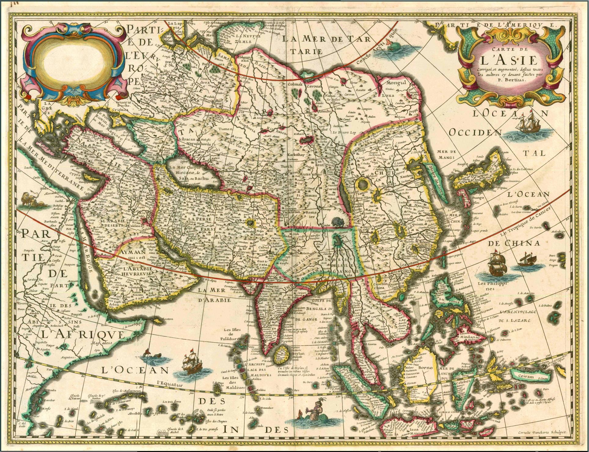 Carte De Lasie.File 1627 Carte De L Asie Bertius Jpg Wikipedia