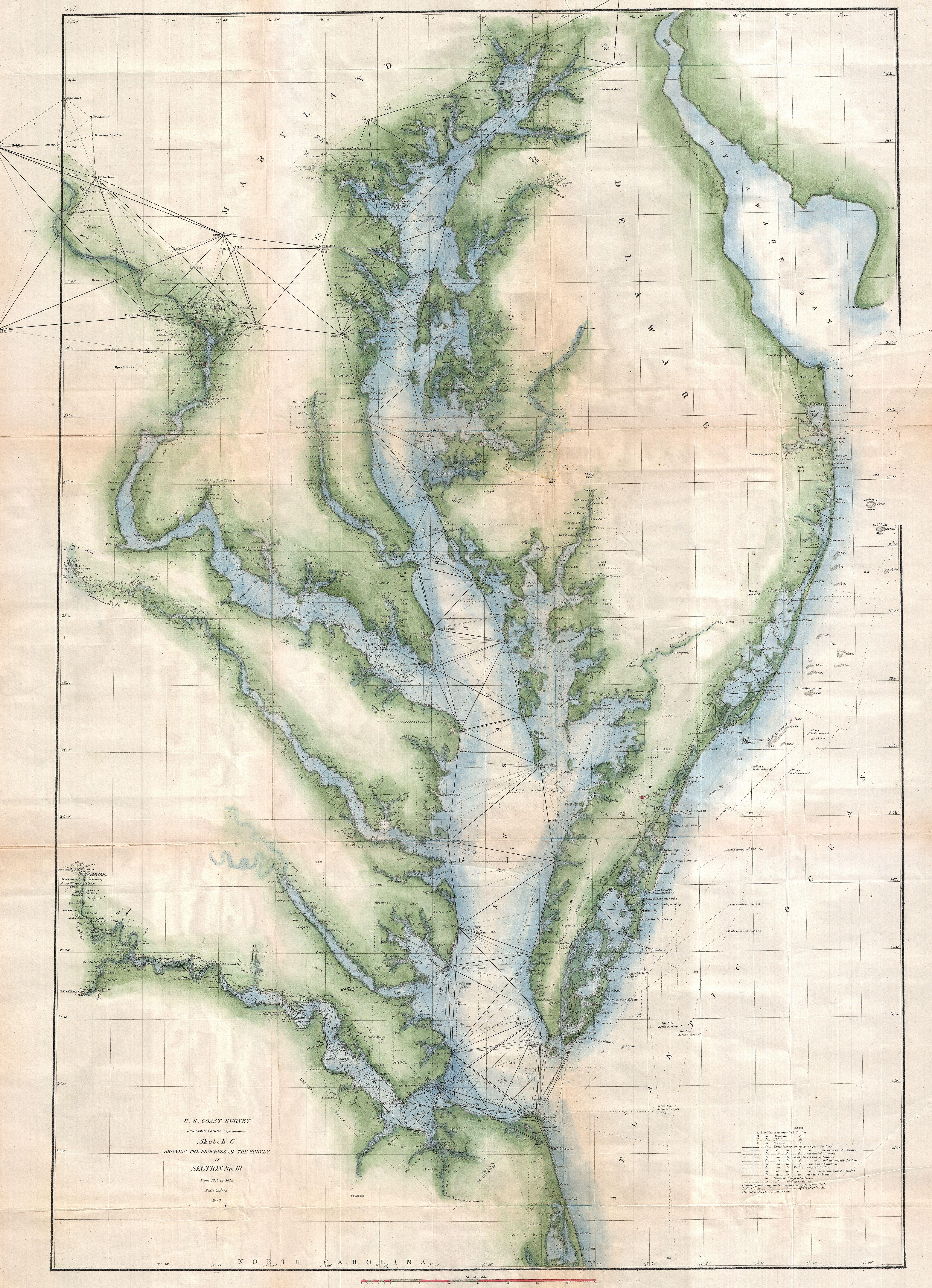 File US Coast Survey Chart Or Map Of The Chesapeake Bay And - Us map with bays