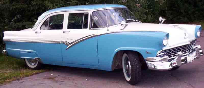 Drift away the early bird gets the worm for 1956 ford fairlane 4 door hardtop
