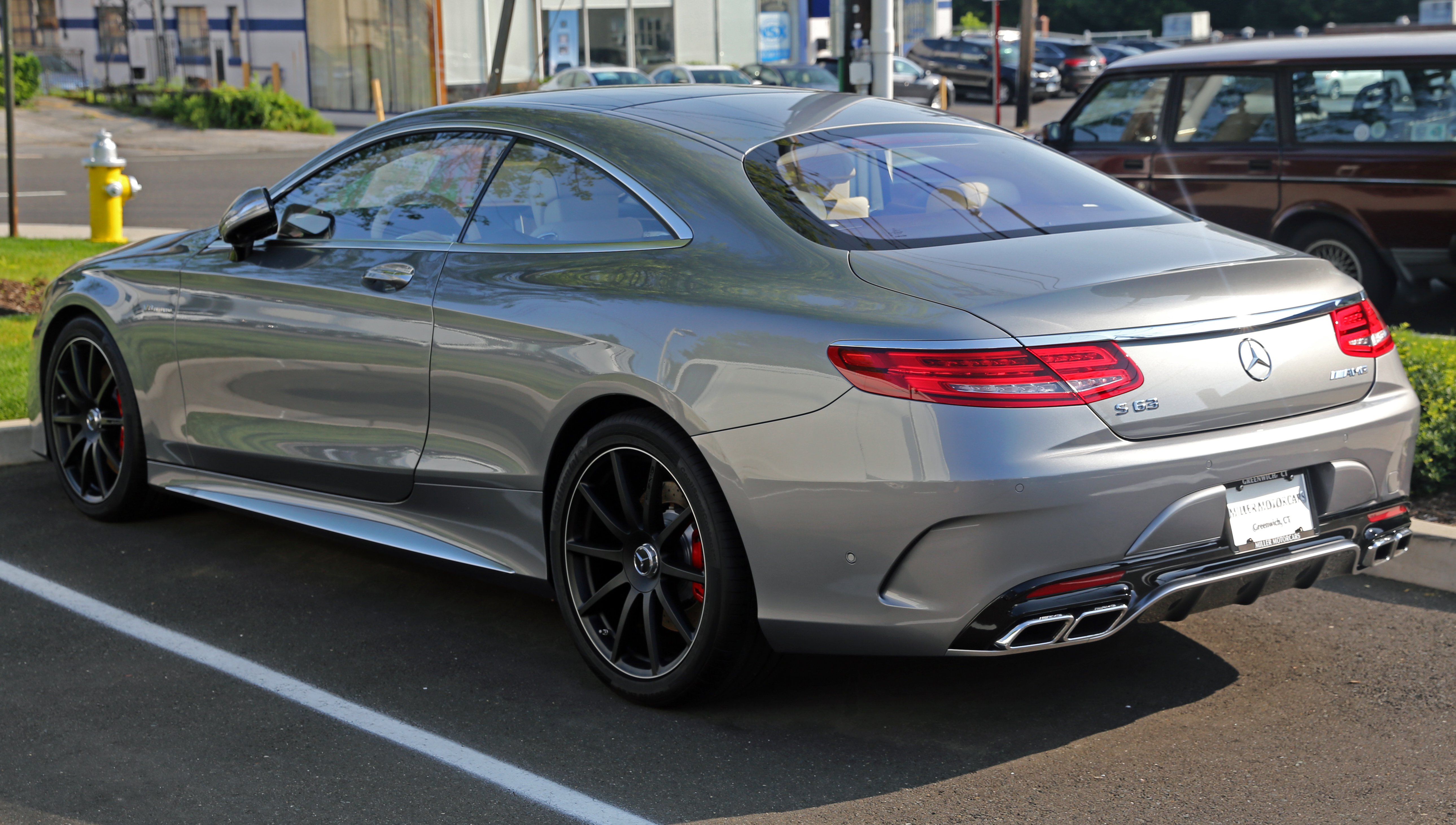 File:2015 Mercedes-Benz S63 AMG Coupé, rear left (US).jpg - Wikimedia Commons