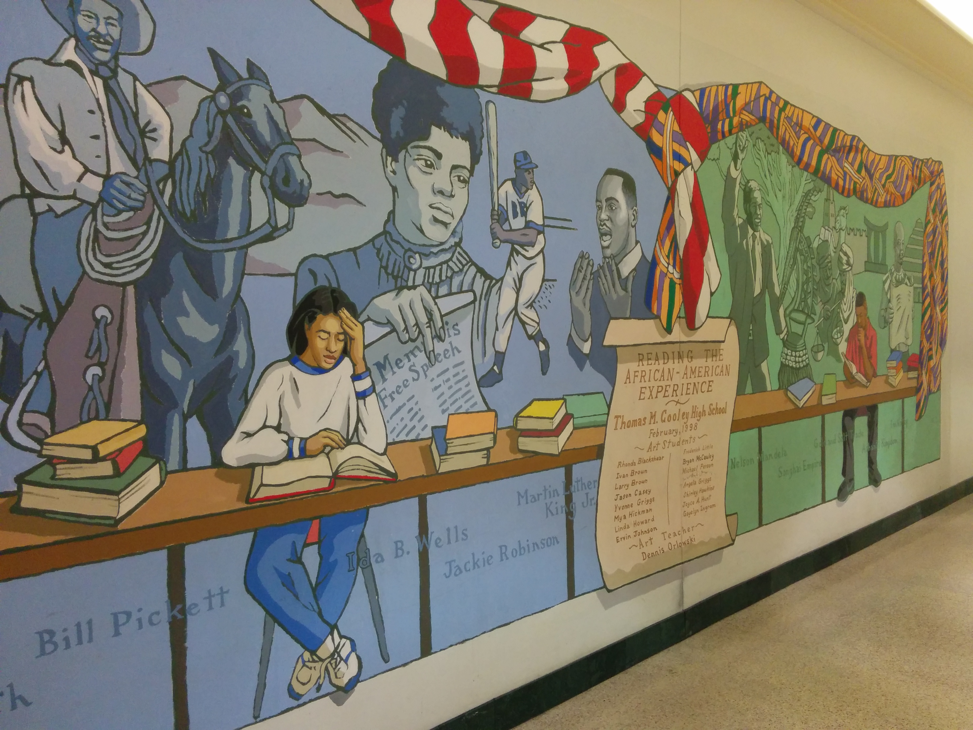 File african american experience mural at northland center for African american mural
