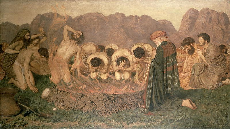 Albert Joseph Moore - Elijah's Sacrifice 1863