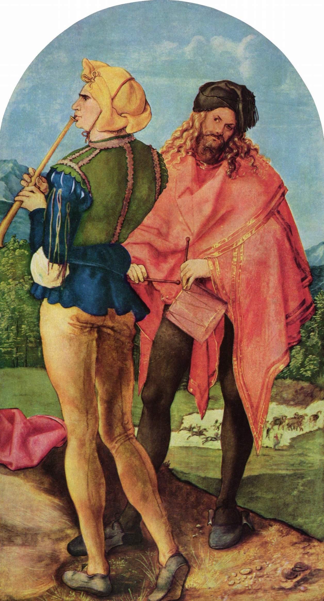 Trommler und Pfeifer (um 1503 – 1505) von Albrecht Dürer