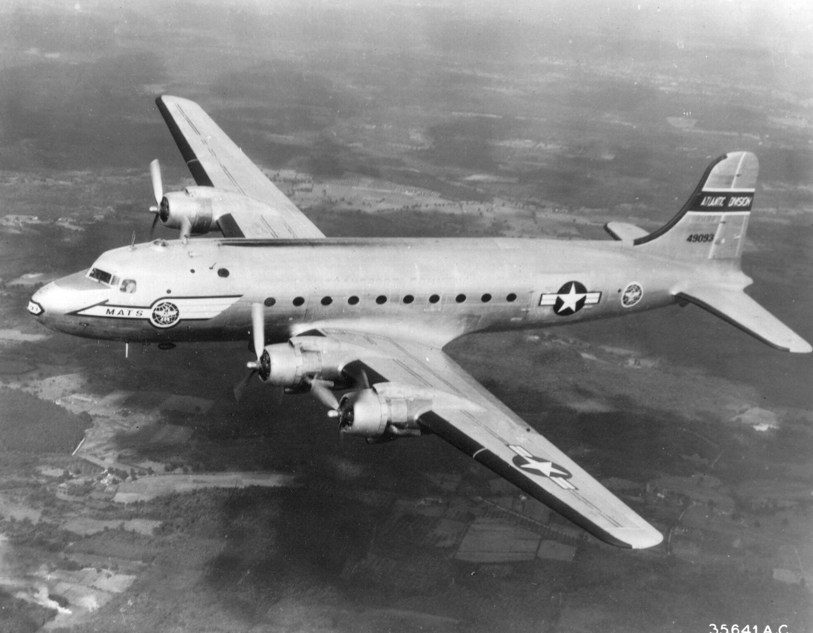 An USAF C 54 Skymaster