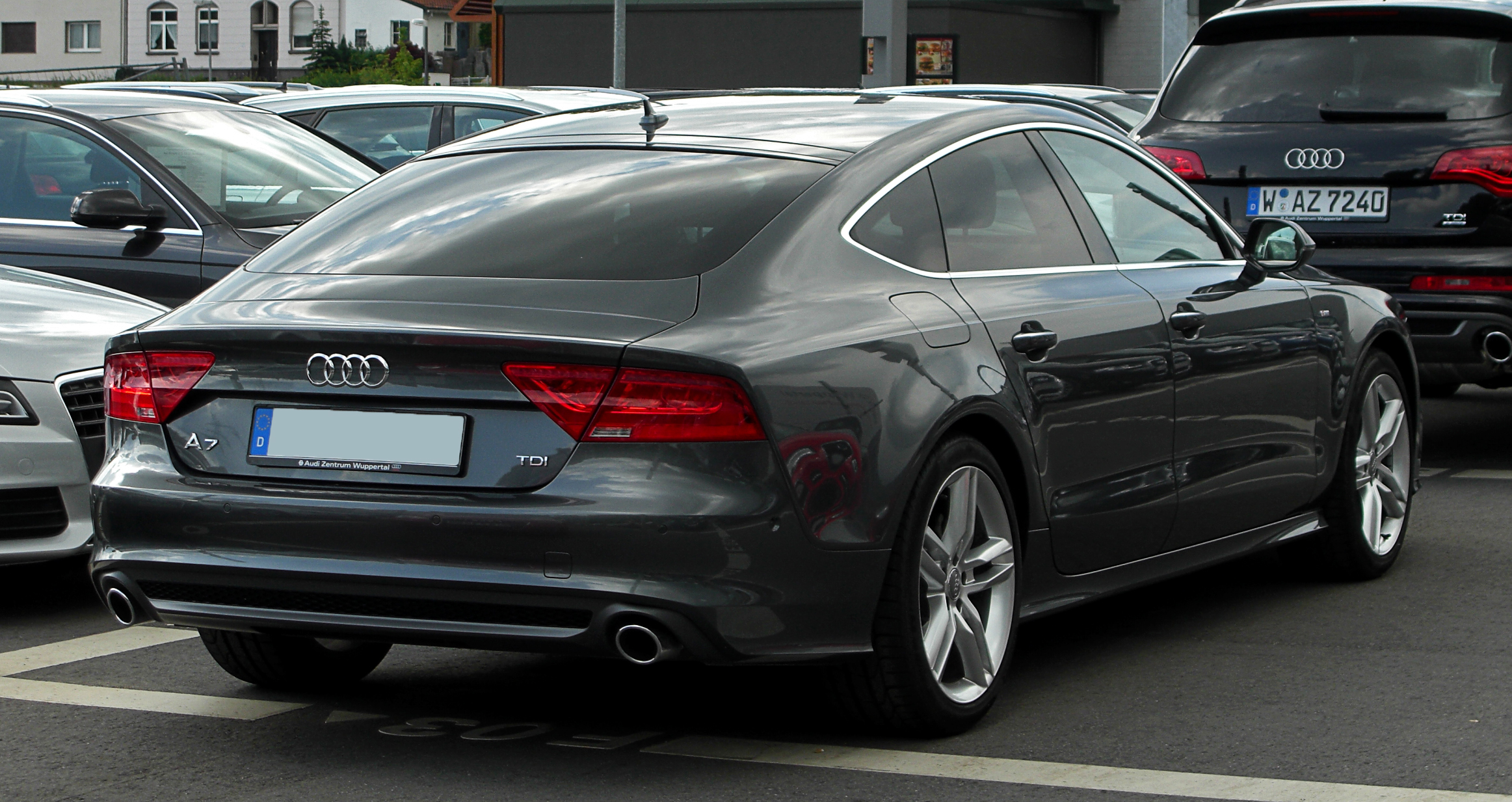 file audi a7 sportback 3 0 tdi quattro s line heckansicht 15 mai 2011. Black Bedroom Furniture Sets. Home Design Ideas