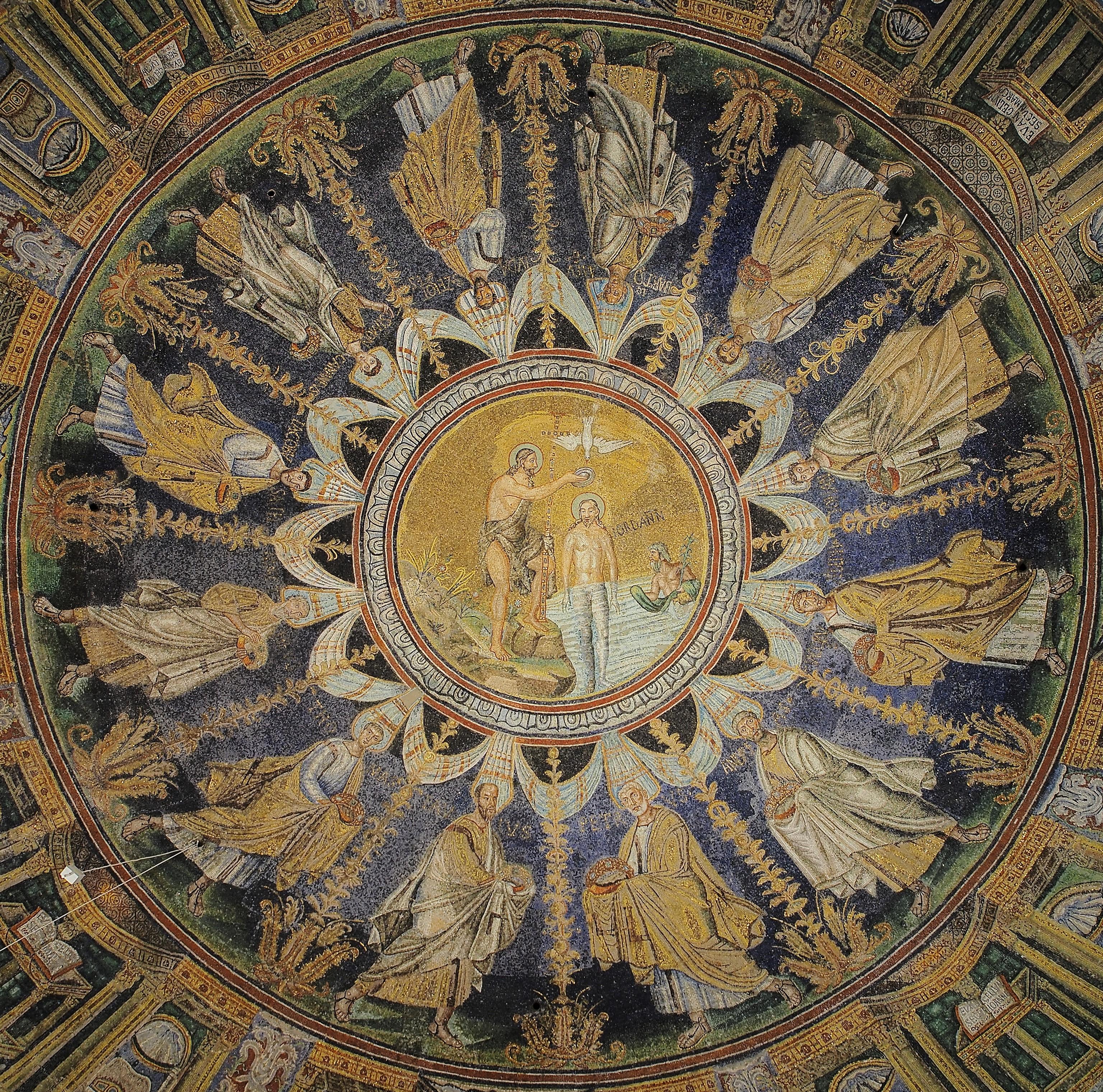 File Baptistry Of Neon Ceiling Mosaic Ravenna Jpg