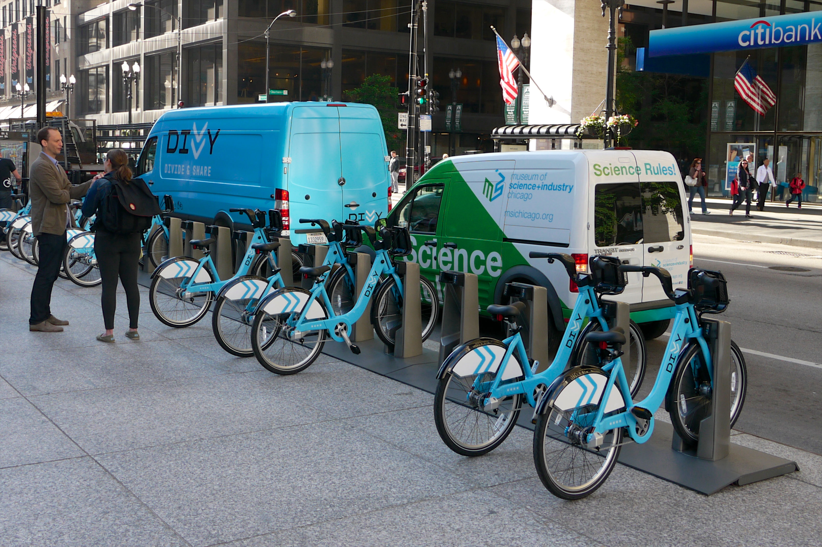 Divvy Bikes In Chicago Dearborn amp Washington Divvy