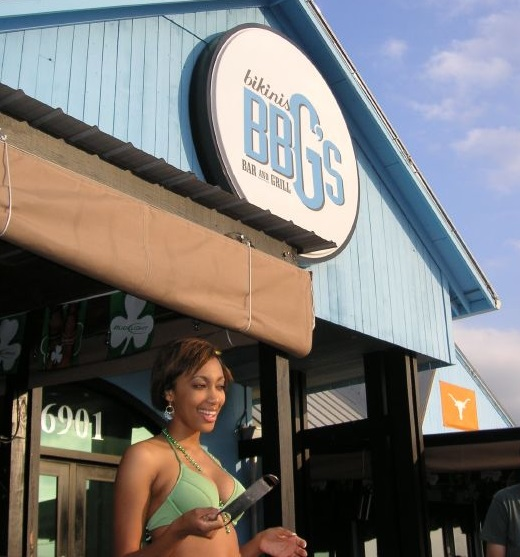 Exterior View Of Austin, Texas Bikinis Location