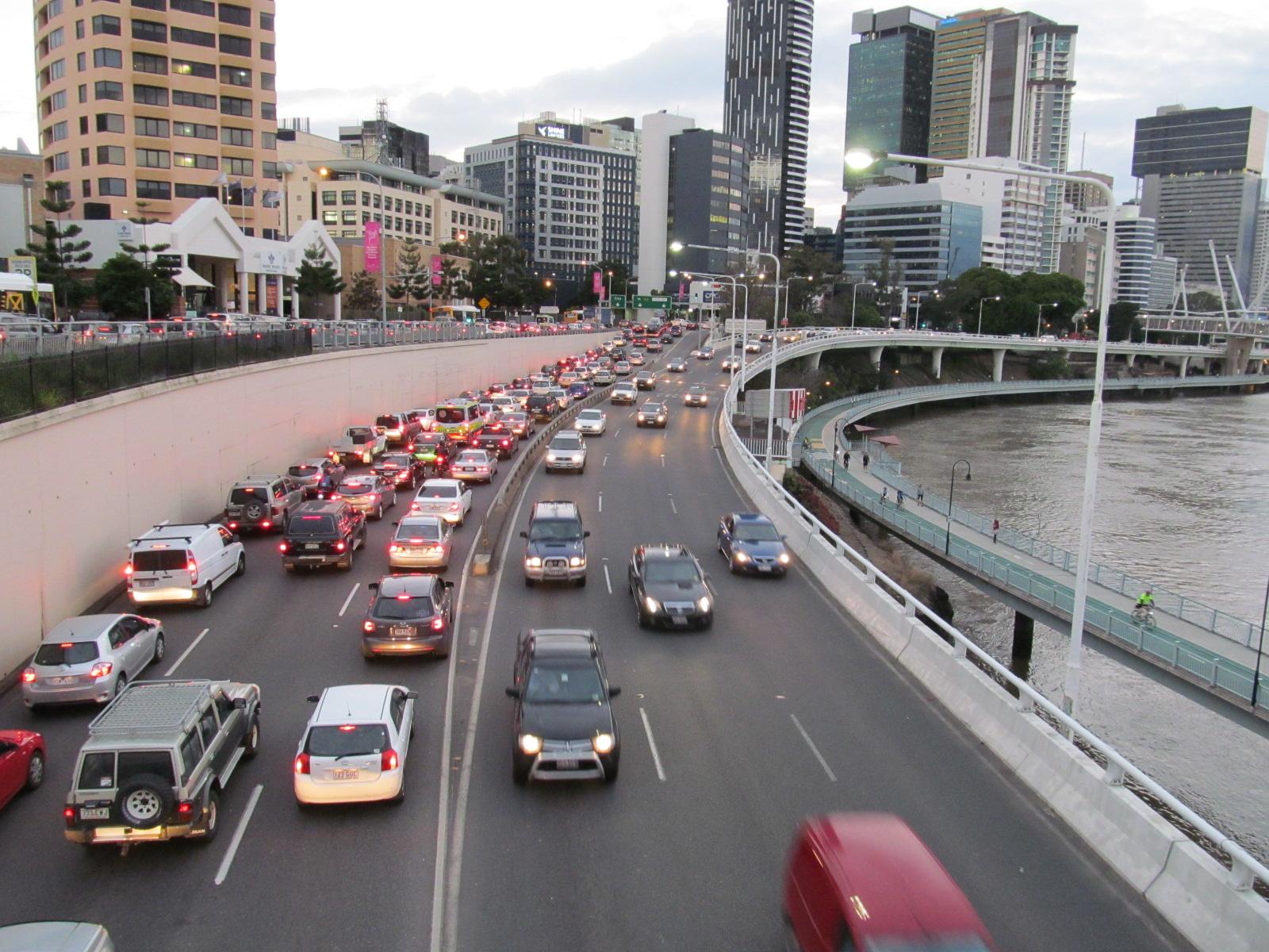 congestion on the William Jolly bridge
