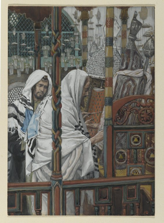 Brooklyn Museum - Jesus Teaches in the Synagogues (Jésus enseigne dans les synagogues) - James Tissot.jpg