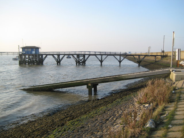 Canvey Island, Holehaven Lookout Station, Pier ^ Slipway - geograph.org.uk - 2307584