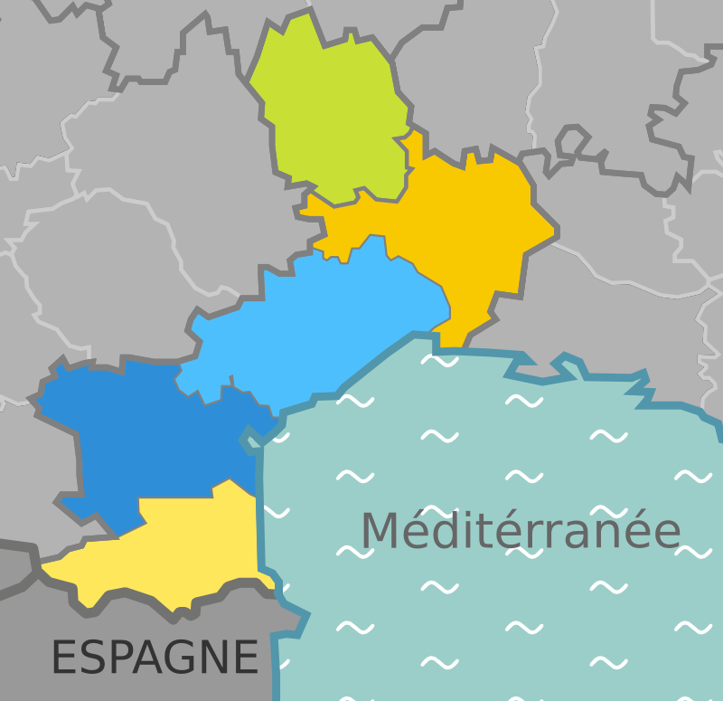 Carte Languedoc Roussillon.File Carte Languedoc Roussillon Wikivoyage Png Wikimedia Commons