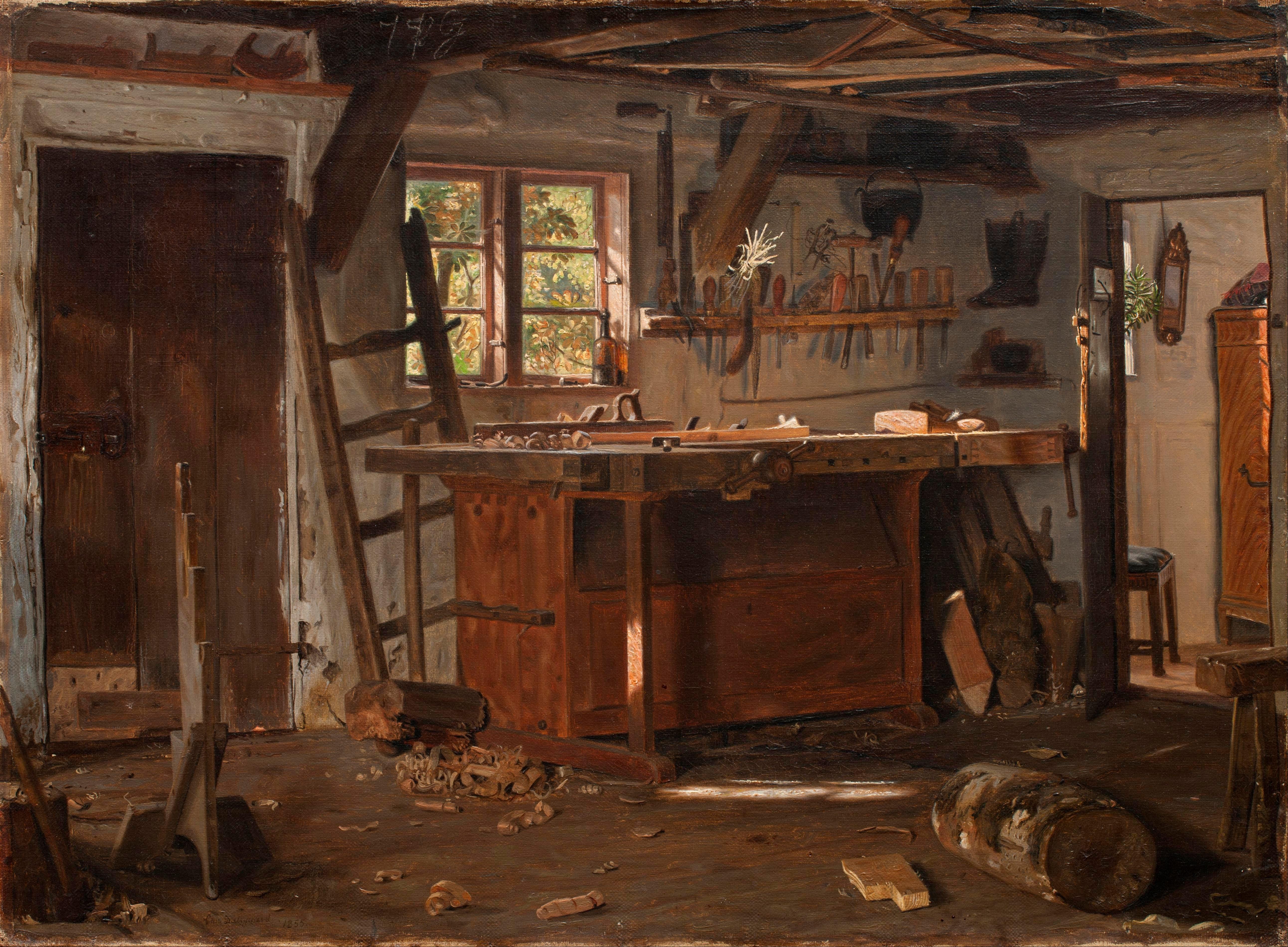 File:Christen Dalsgaard - A carpenter's workshop - Google
