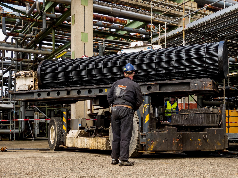 bundle extractor for heat exchanger