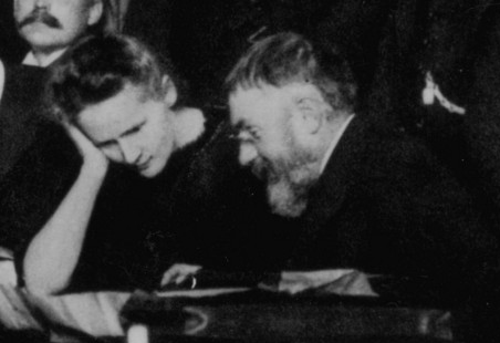 Curie_and_Poincare_1911_Solvay