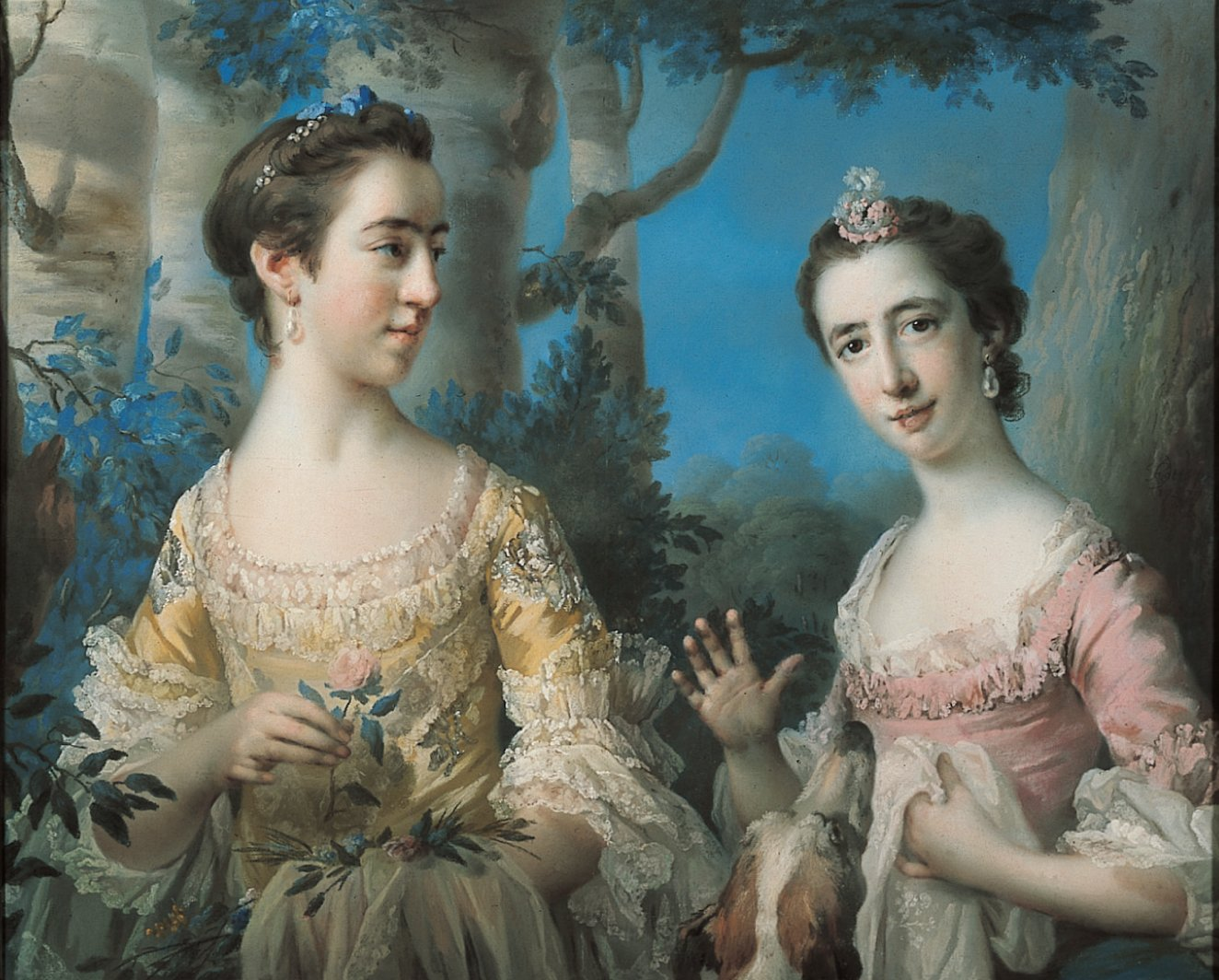 Conservation and restoration of paintings wikipedia double portrait by francis cotes pastel speed art museum solutioingenieria Gallery