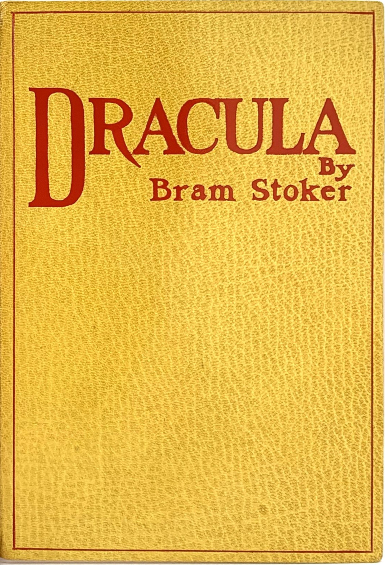 Dracula (first edition cover), Bram Stoker's v...