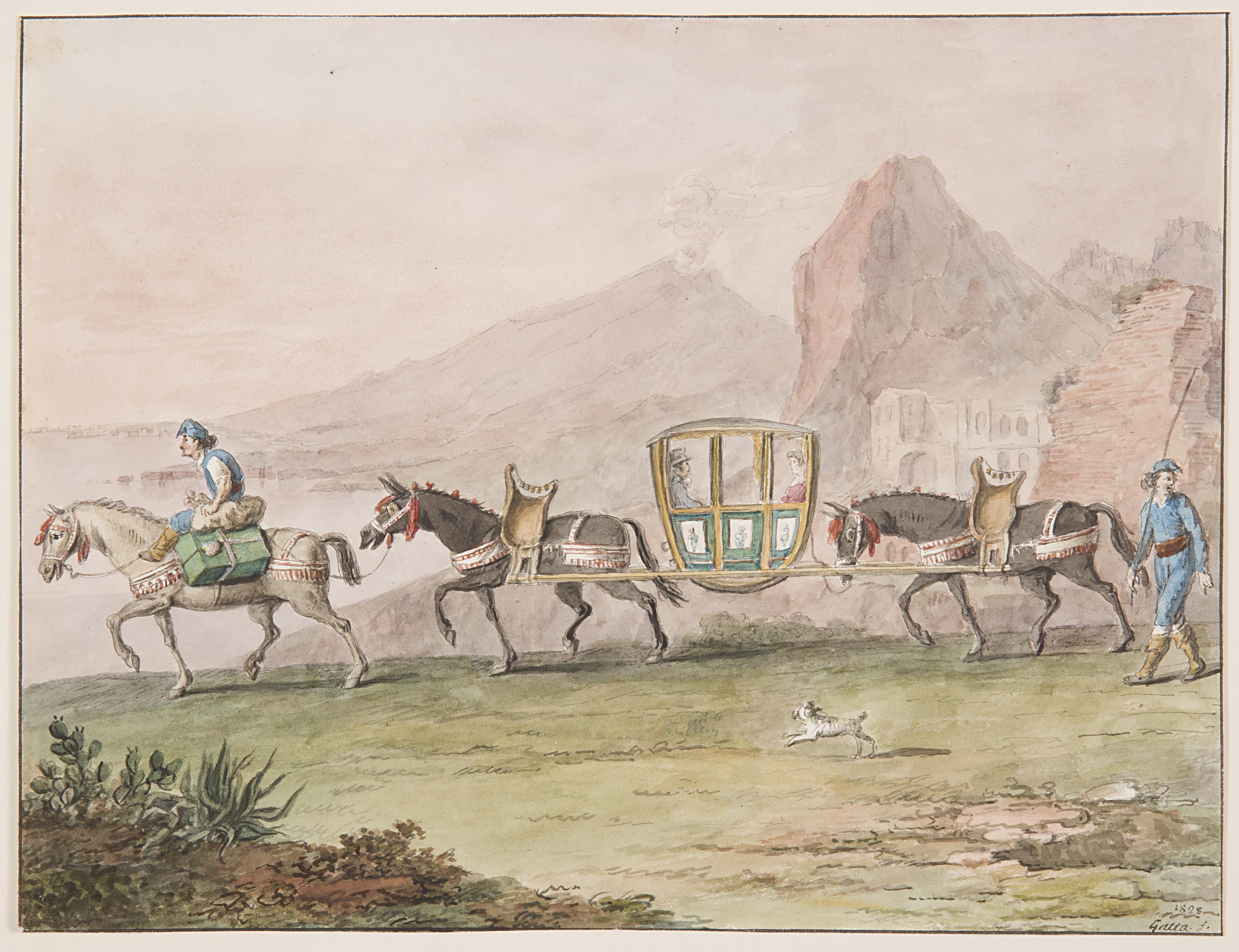 File Drawing Journey By Sedan Chair 1828 Ch 18329787 Jpg Wikimedia Commons