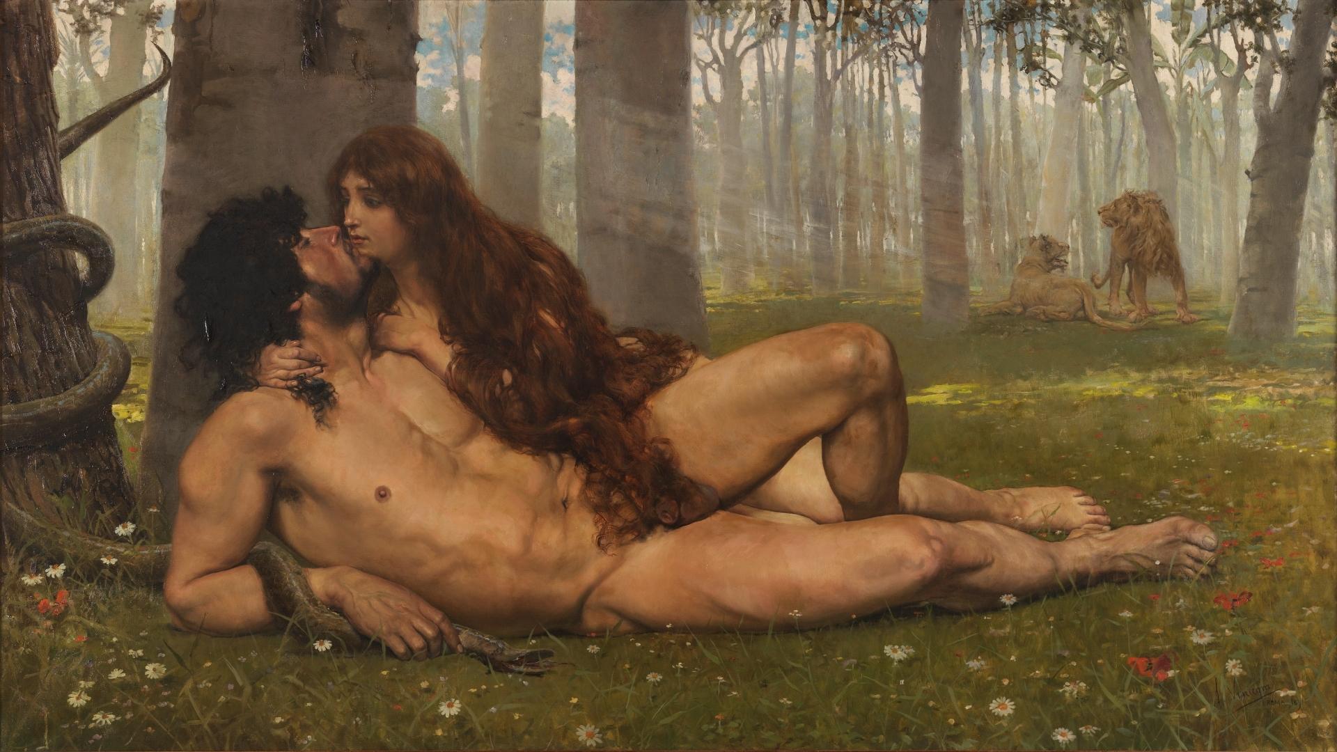 El primer beso Salvador Viniegra y Lasso de la Vega (1891).jpg