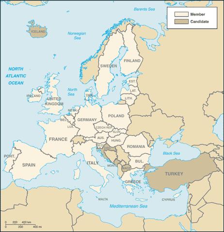 Amazing Member Countries[badlo | Source Ke Badlo]. EU Members Ke Map ...