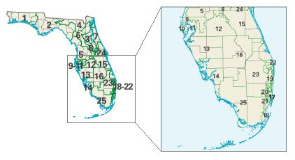 Florida Congressional Map.File Fl Districts 108 Jpg Wikimedia Commons