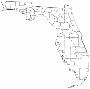 Location of Boca Grande, Florida