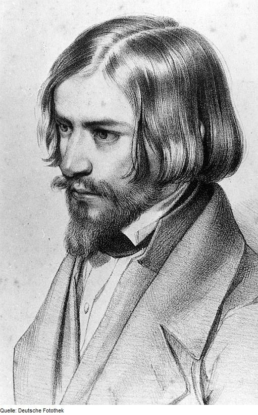Fotothek df rp-c 0200071 Triebischtal-Semmelsberg. Otto Ludwig, Porträt, Zeichnung (Stadtarchiv Meißen, Graphiksammlung).jpg