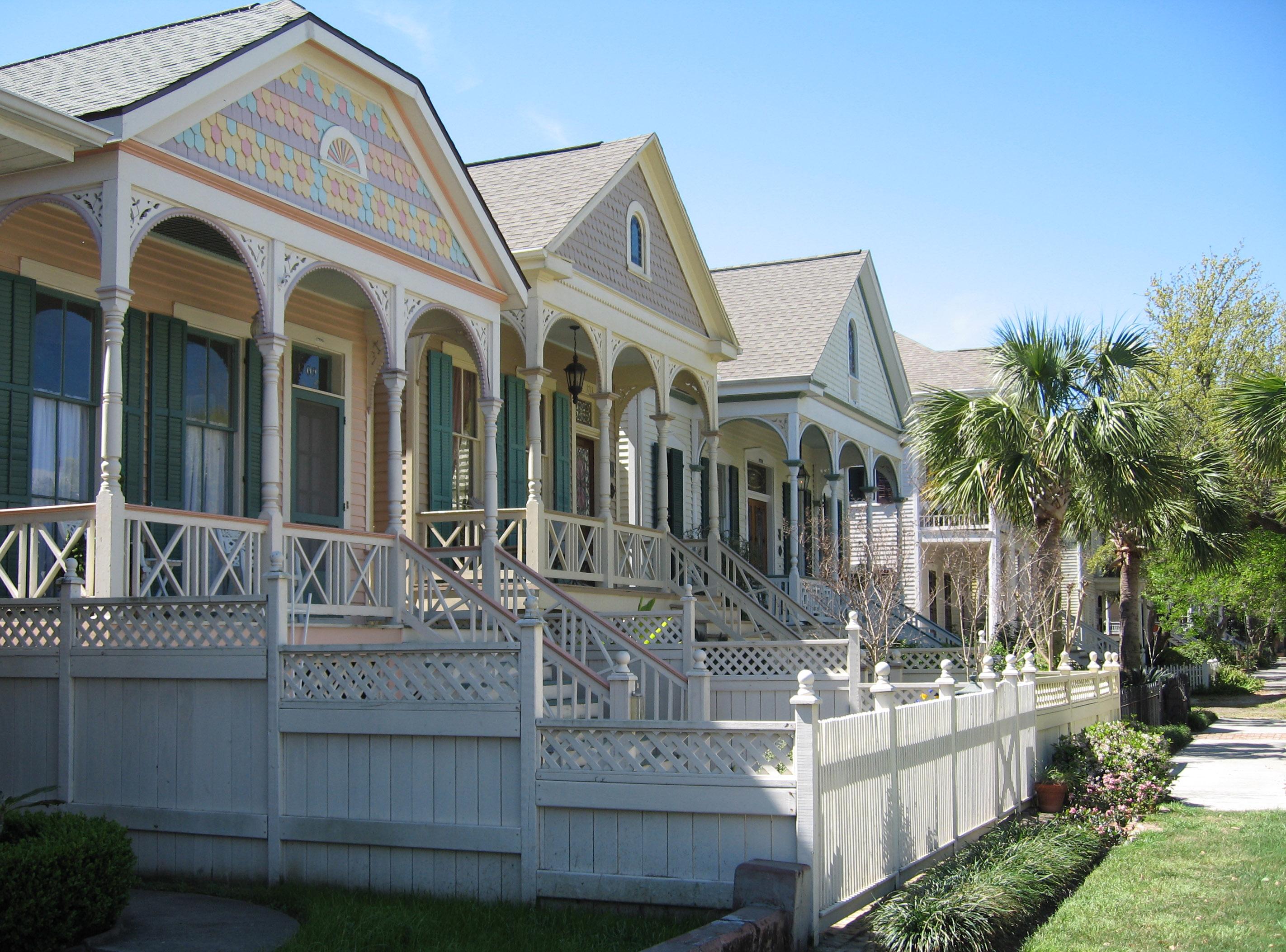 File galveston victorian homes wikimedia commons for Victoria home builders
