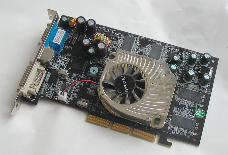 An NVIDIA Geforce 4200 graphics card