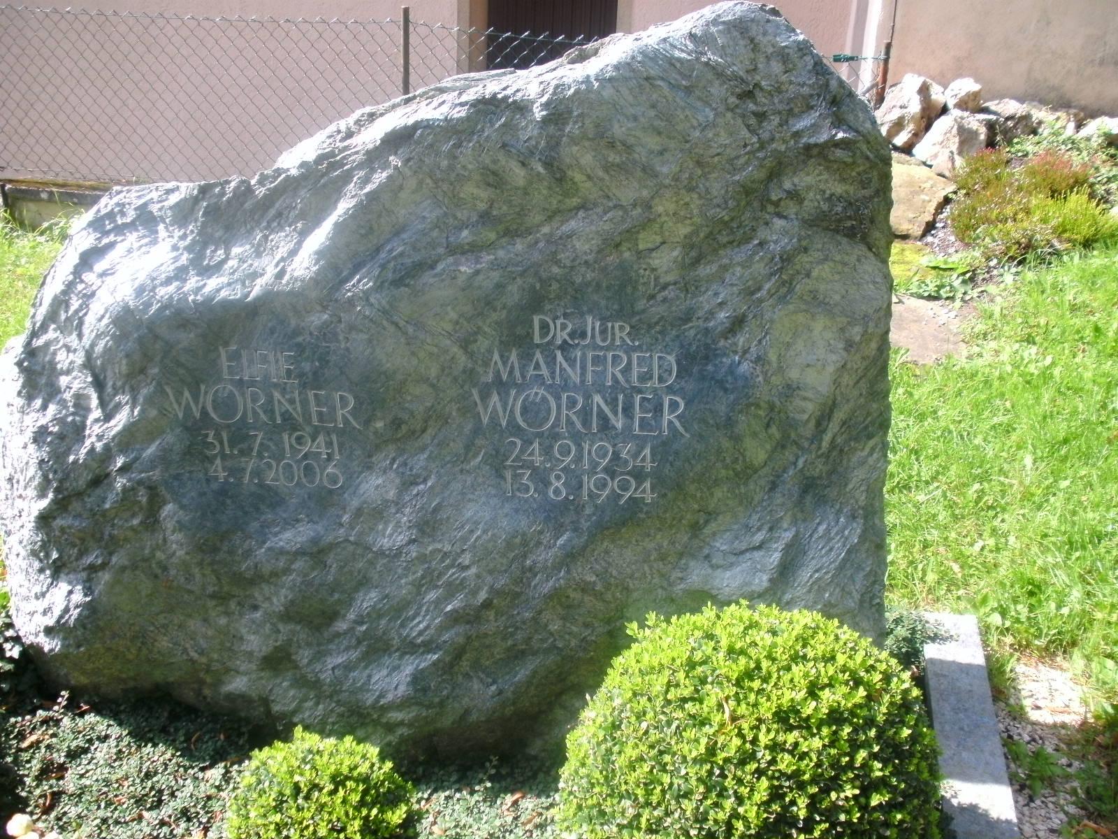 Grab von Manfred Wörner