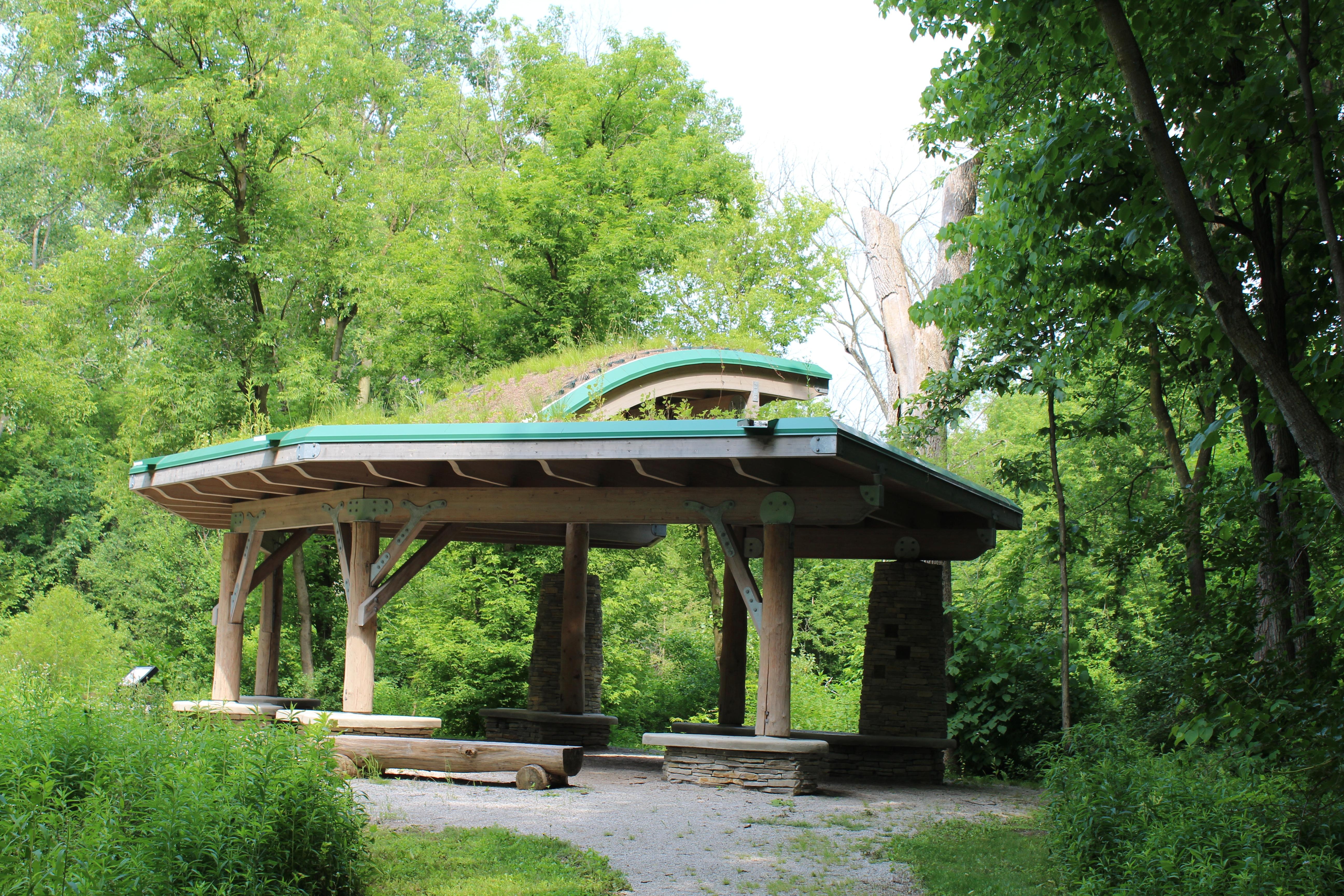 File Green Roof Pavilion Parker Mill Park Ann Arbor