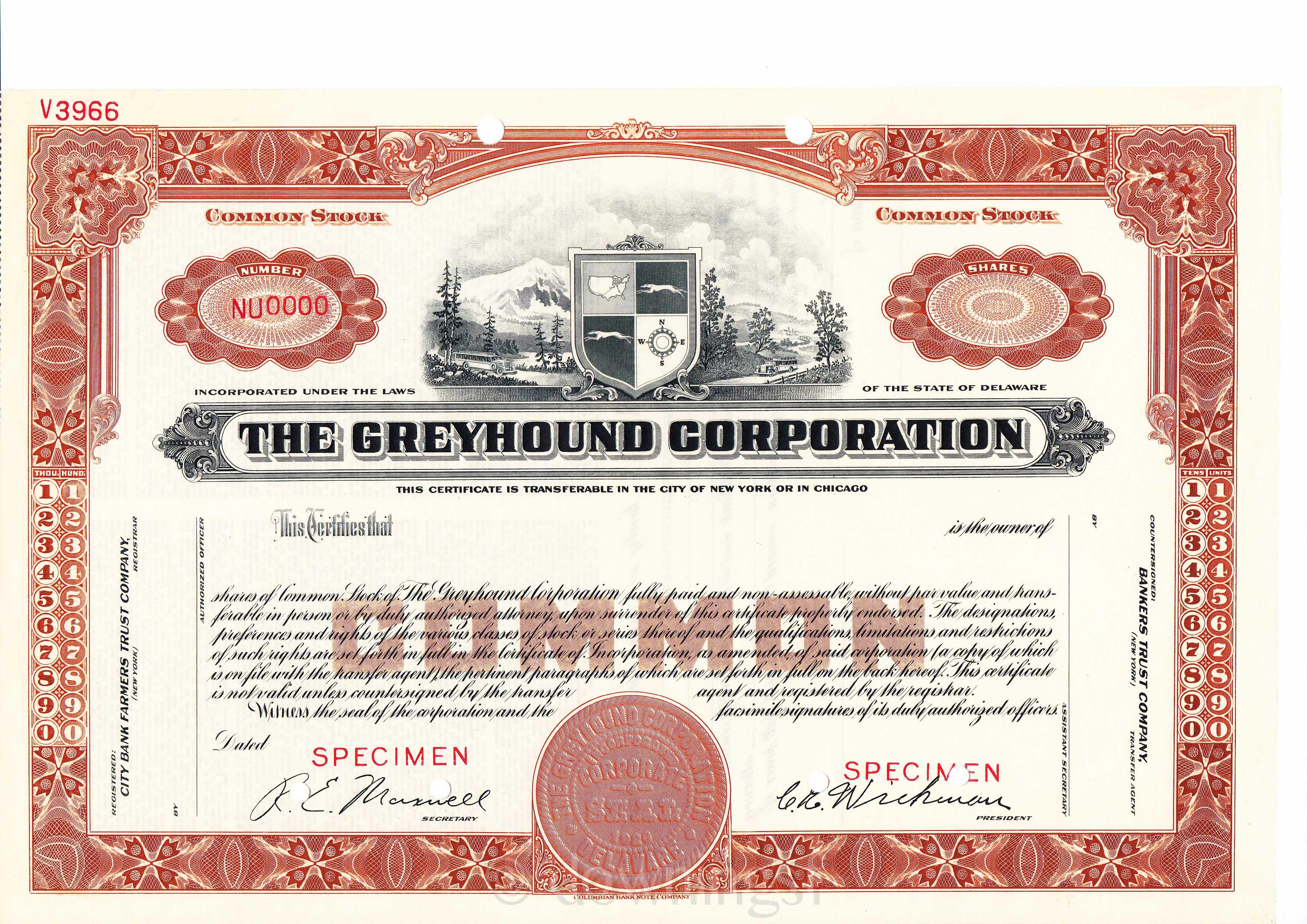 Disney Stock Certificate Template