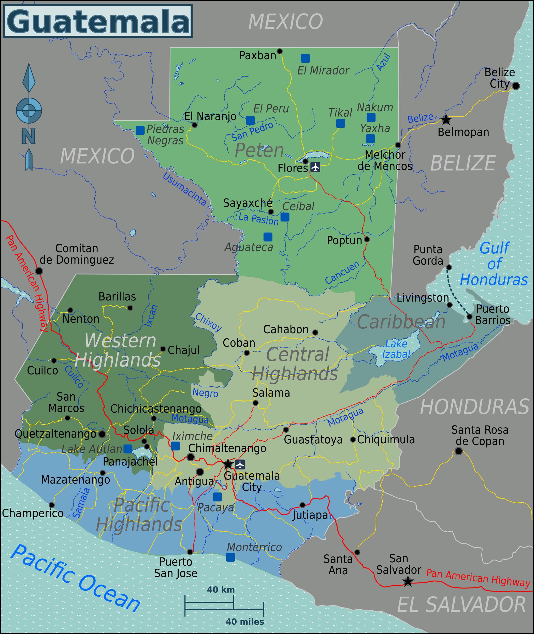 File:Guatemala Regions map.png - Wikimedia Commons