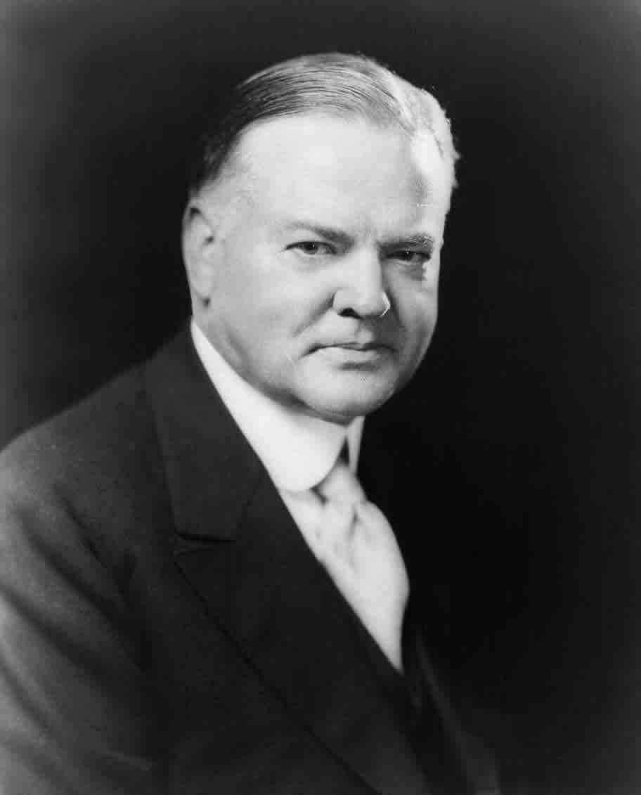 Depiction of Herbert Hoover