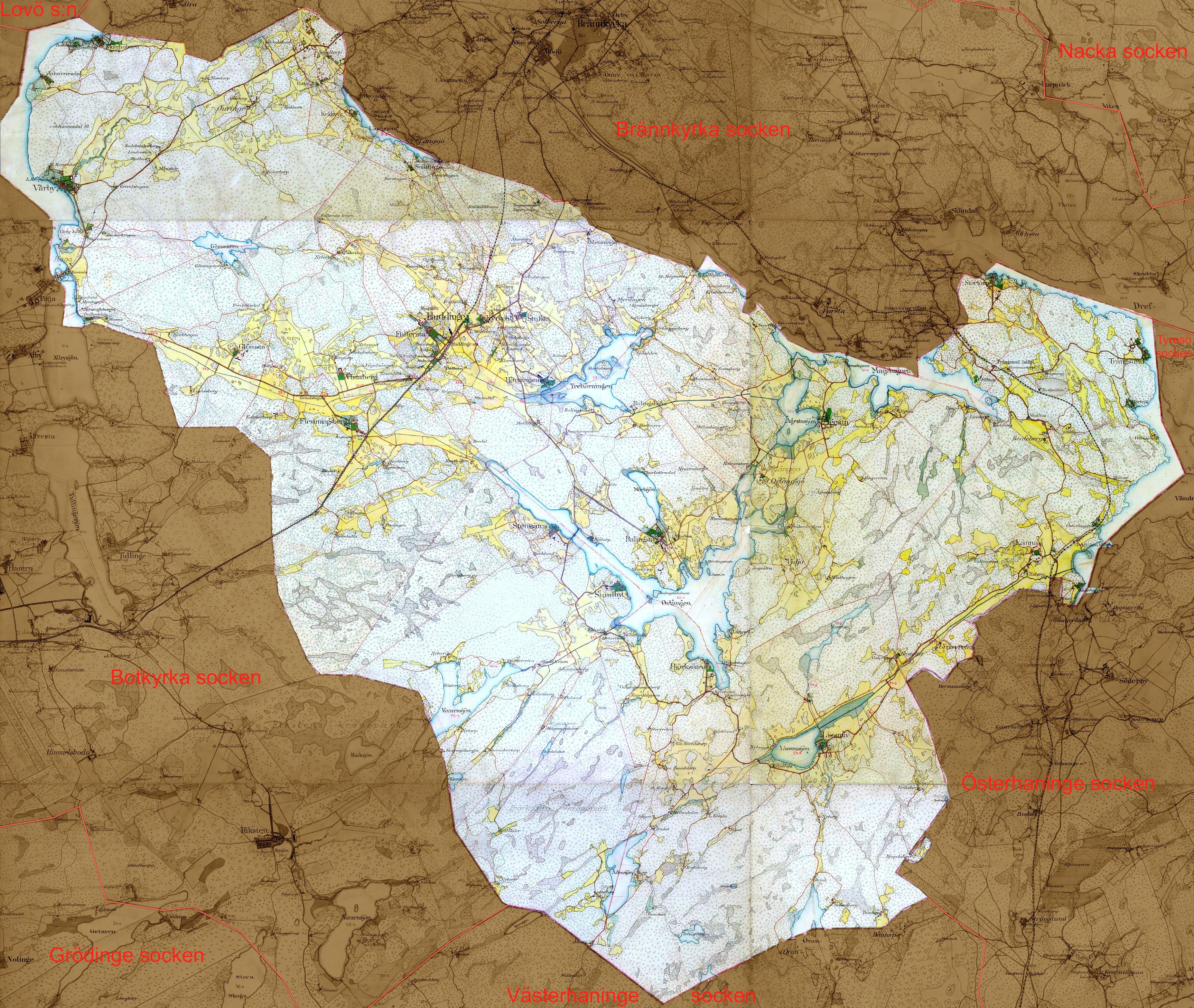 huddinge karta File:Huddinge sockenkarta1901 1906.   Wikimedia Commons huddinge karta