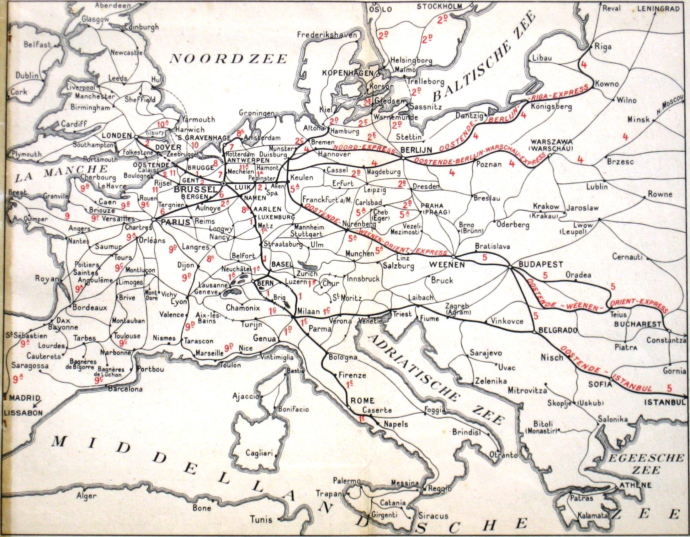 FileInternational trains from Belgium 1933jpg Wikimedia Commons – Belgium Rail Map