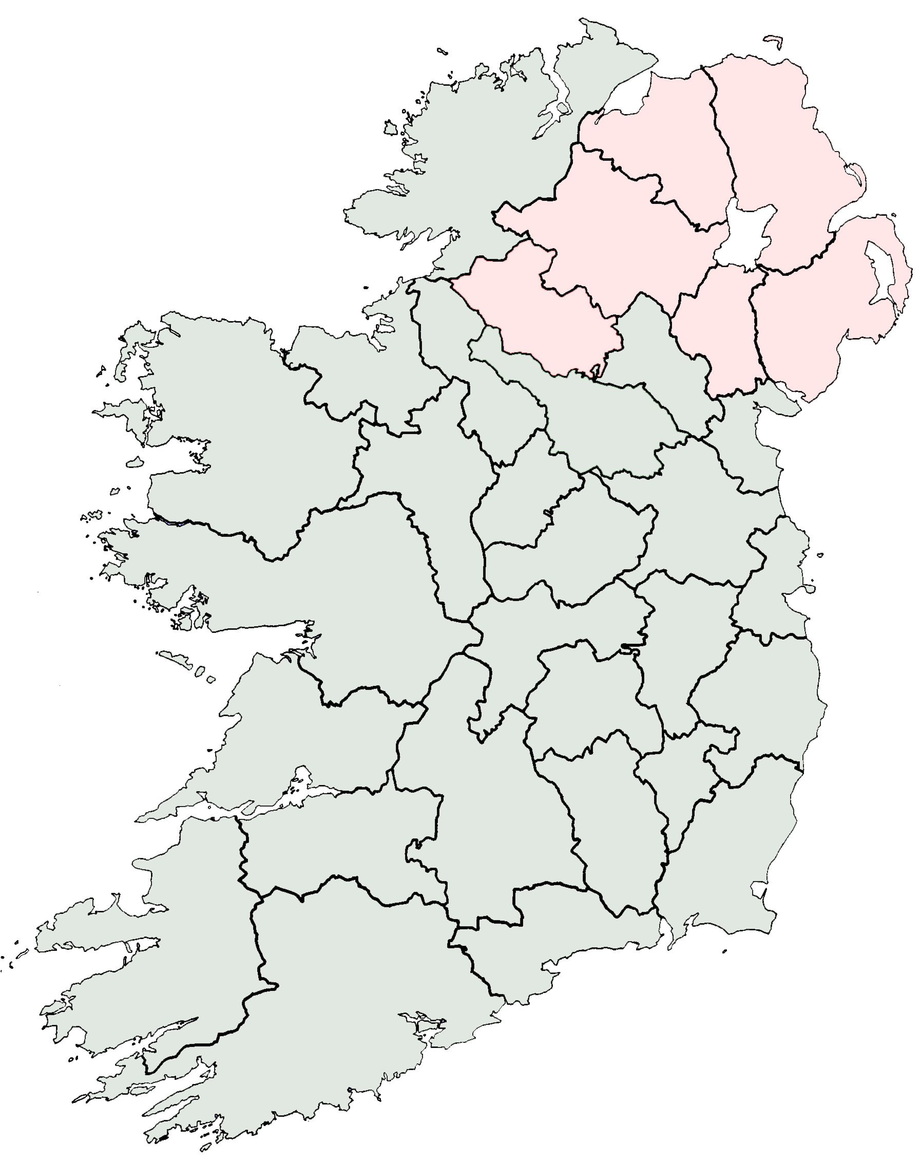 Blank Map Of Ireland Counties - Blank map of us counties
