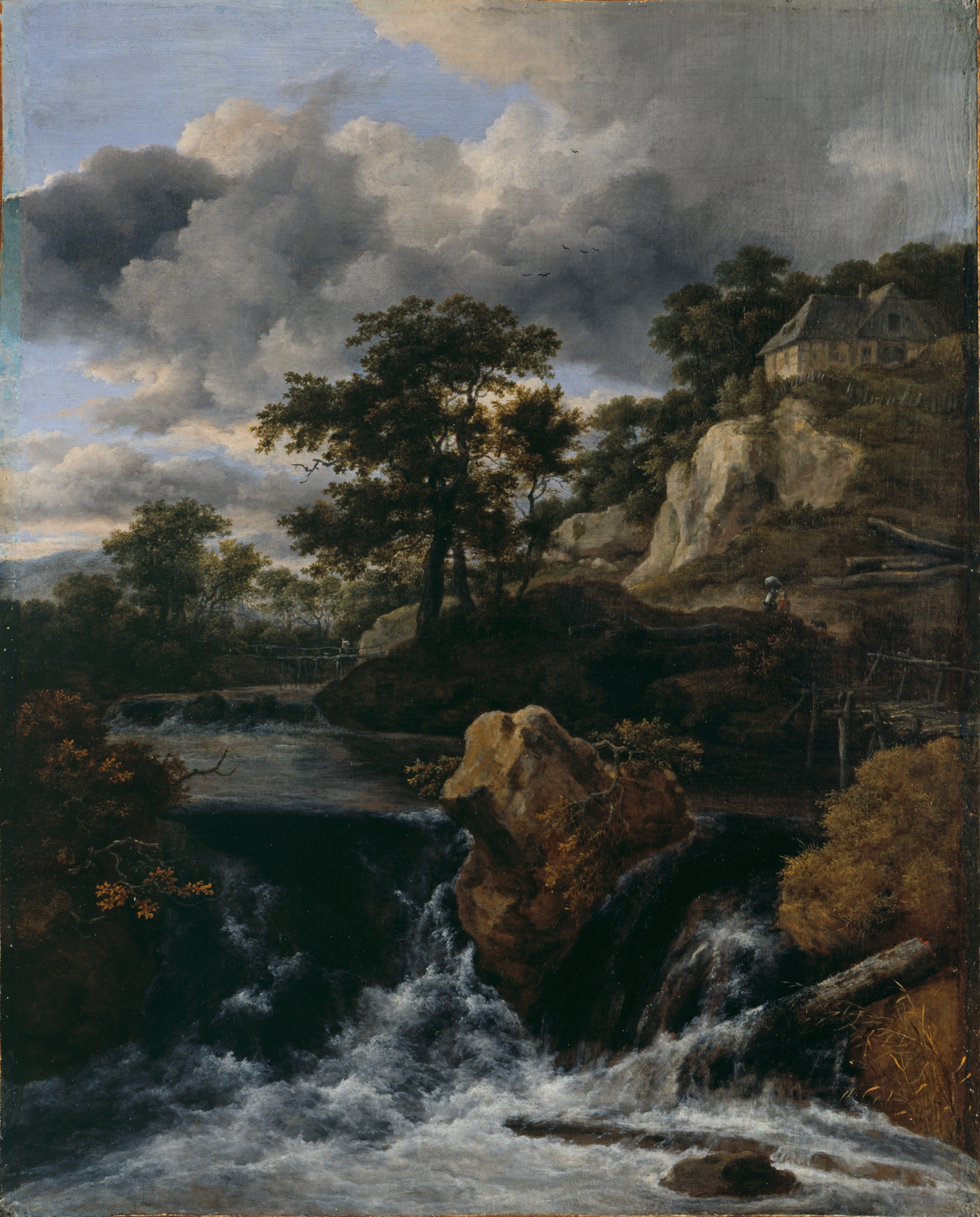 file jacob van ruisdael huegellandschaft mit wasserfall. Black Bedroom Furniture Sets. Home Design Ideas
