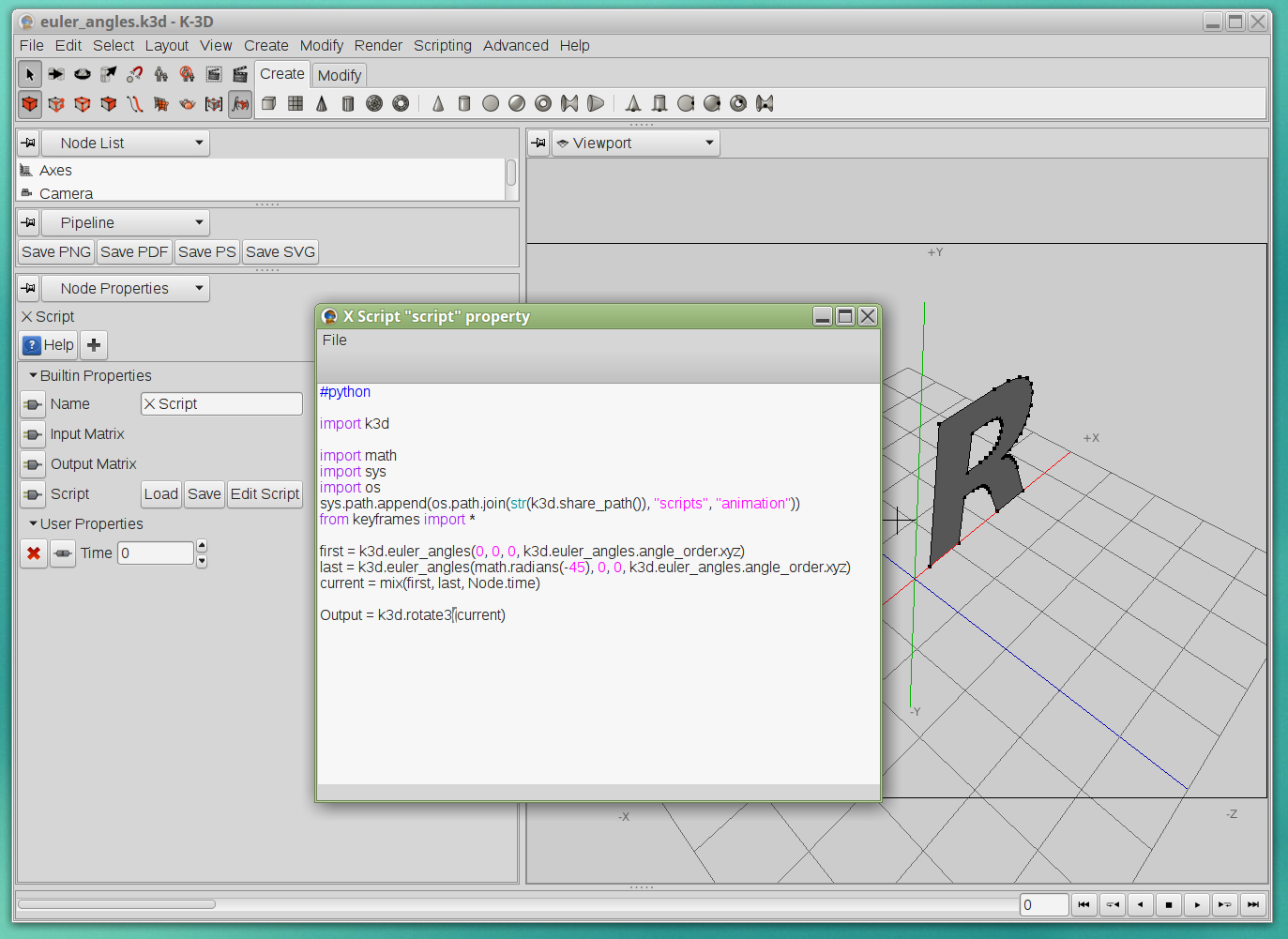 File:K-3D version 0 8 0 3 screenshot, python scripting