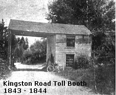 A toll booth on old Kingston Road, near Port U...