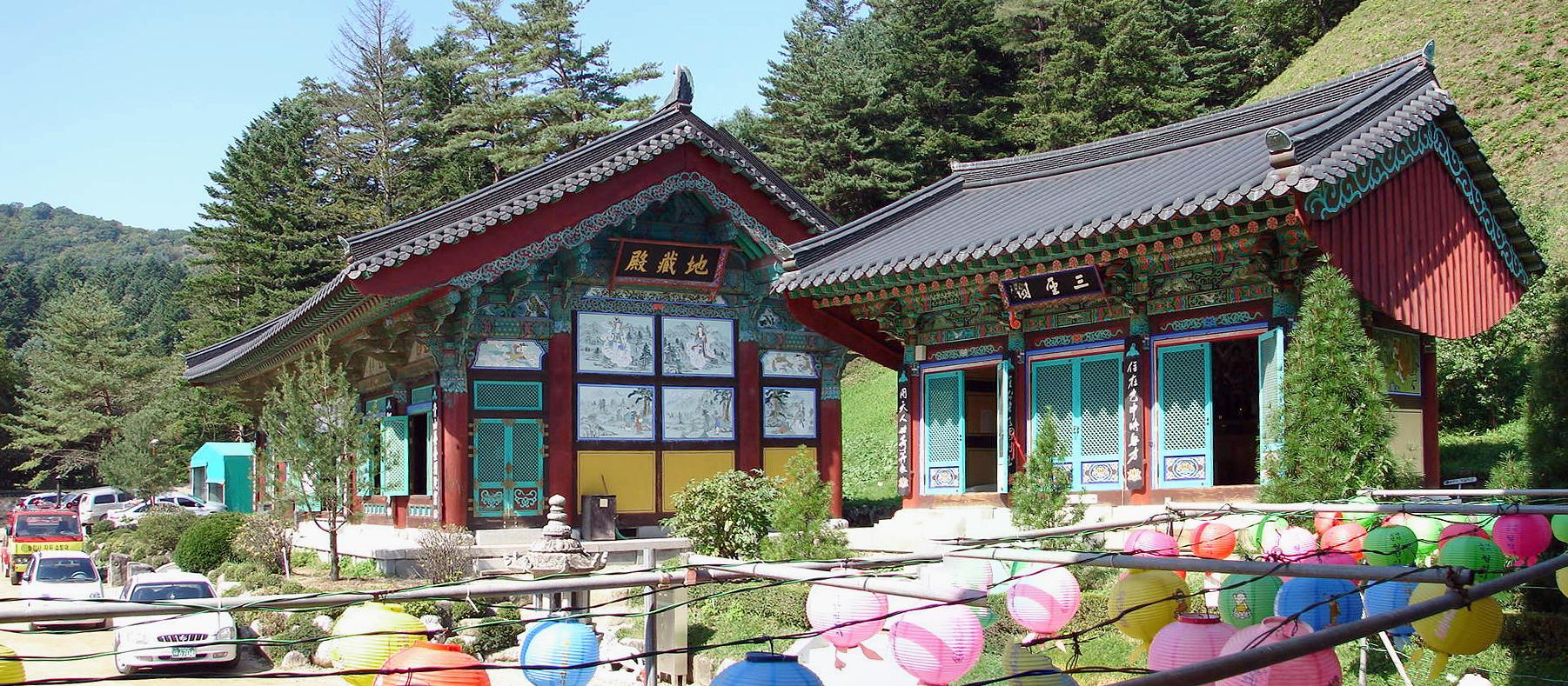 Templo budista de Woljeongsa, em PyeongChang