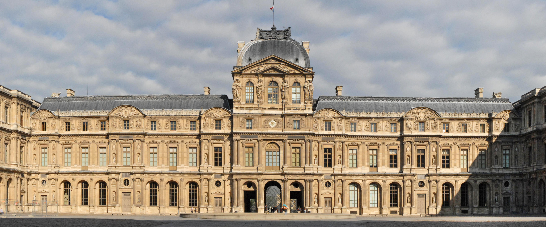 File la fa ade renaissance de la cour carr e du palais du louvre paris 2010 - Date construction du louvre ...